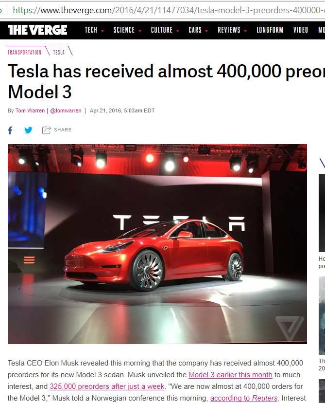 Image de um Tesla 3 vermelho