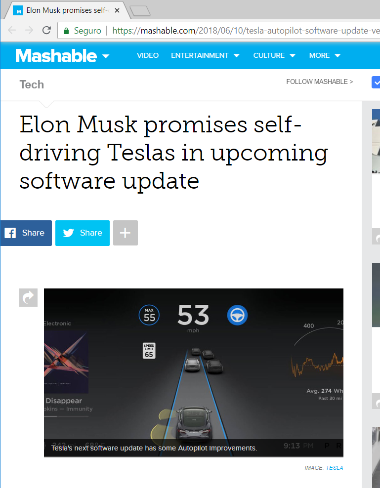 Tesla Software update to version 9.0 and major update for Autopilot 2.0